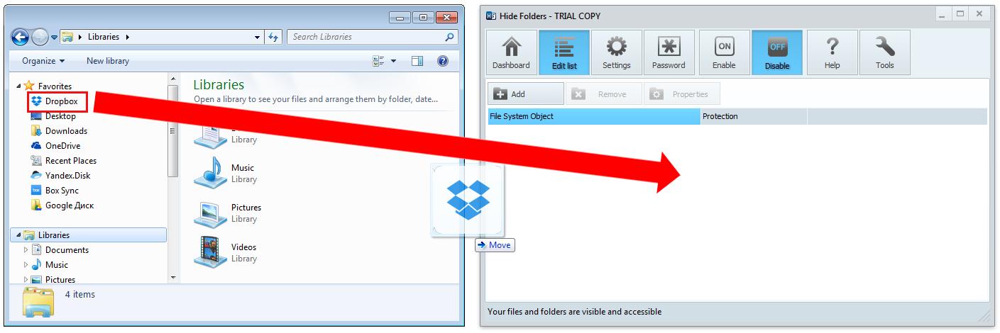 Protect Dropbox folder – FSPro Labs
